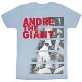 Andre The Giant Andre Bars Light Blue Heather Adult T-Shirt
