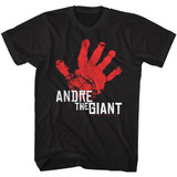 Andre The Giant Red Hand Black Adult T-Shirt