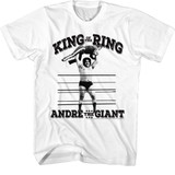 Andre The Giant King Of The Ring White Adult T-Shirt