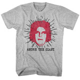 Andre The Giant Le Geant Gray Heather Adult T-Shirt