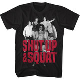 Andre The Giant Shut Up And Squat Black Adult T-Shirt
