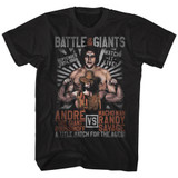 Andre The Giant Versus Match Black Adult T-Shirt