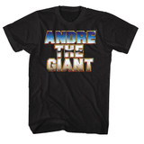 Andre The Giant Chrome Black Adult T-Shirt