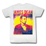 James Dean Pink Blue White Adult T-Shirt