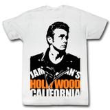 James Dean Blocked White Adult T-Shirt