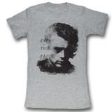 James Dean Everything Fades Gray Heather Junior Women's T-Shirt