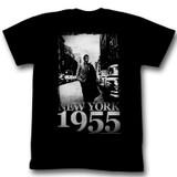 James Dean 1955 Black Adult T-Shirt