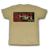 James Dean Rebel Khaki Heather Adult T-Shirt