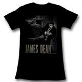 James Dean Camera Black Junior Women's T-Shirt