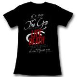James Dean Life And Death Black Junior Women's T-Shirt