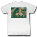 James Dean Hi White Adult T-Shirt