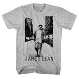 James Dean Walk Walk Gray Heather Adult T-Shirt