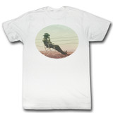 James Dean Waiting White Adult T-Shirt