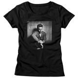 James Dean He's Dark N Stuff Black Junior Women's T-Shirt