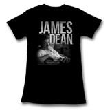 James Dean Black Junior Women's T-Shirt
