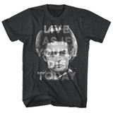 James Dean Thanks Jim Black Heather Adult T-Shirt