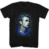 James Dean Fishy Black Adult T-Shirt