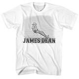 James Dean Chair Fence White Adult T-Shirt