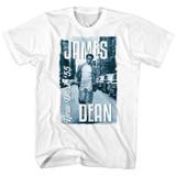 James Dean James Dean '55 White Adult T-Shirt