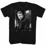 James Dean Slouch Black Adult T-Shirt