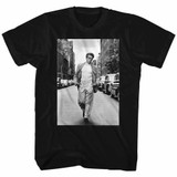 James Dean Street Black Adult T-Shirt