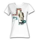 James Dean Dean Typography White Junior Women's T-Shirt