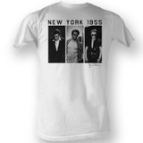 James Dean Black And White White Adult T-Shirt