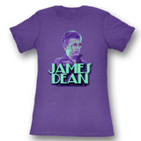 James Dean Bro Purple Junior Women's T-Shirt