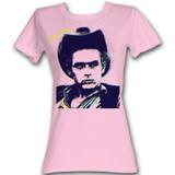 James Dean Lines Light Pink Junior Women's T-Shirt