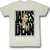 James Dean Cracked Natural Adult T-Shirt