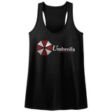 Resident Evil Umbrella Black Junior Women's Racerback Tank Top