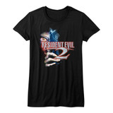 Resident Evil Residentevil 2 Black Junior Women's T-Shirt