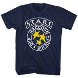 Resident Evil Rpd Stars Navy T-Shirt