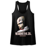Resident Evil Evil20 Black Junior Women's Racerback Tank Top