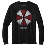 Resident Evil Umbrella Black Long Sleeve T-Shirt