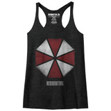 Resident Evil Umbrella Vintage Black Junior Women's Racerback Tank Top