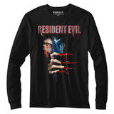 Resident Evil Peekin' Black Long Sleeve T-Shirt