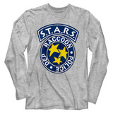 Resident Evil Staaarrrs Gray Heather Long Sleeve T-Shirt