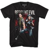 Resident Evil Chrisandjill Black T-Shirt