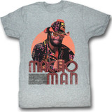 Macho Man Mackin' And Smackin' Gray Heather Adult T-Shirt