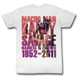 Macho Man More Macho Classic White Adult T-Shirt