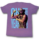 Macho Man Oh Yeah Retro Purple Heather Adult T-Shirt
