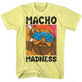 Macho Man Wild Life Yellow Heather Adult T-Shirt