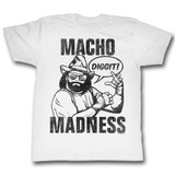 Macho Man Diggit White Adult T-Shirt