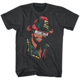 Macho Man Glasses Black Heather Adult T-Shirt