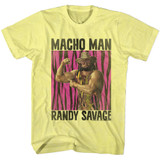 Macho Man Randy Savage Yellow Heather Adult T-Shirt
