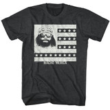 Macho Man Merica Man Black Heather Adult T-Shirt