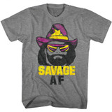 Macho Man Savage Af Graphite Heather Adult T-Shirt