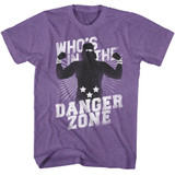 Macho Man Danger Zone Retro Purple Heather Adult T-Shirt