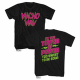 Macho Man Too Sweet Black Adult T-Shirt